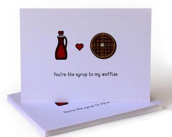 Waffles Love Greeting Card
