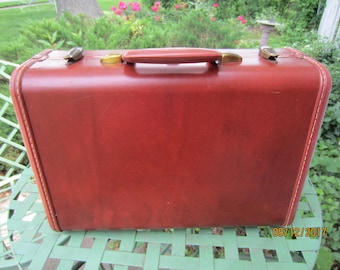 Vintage Samsonite Train Case, Overnight Case, Dark Brown