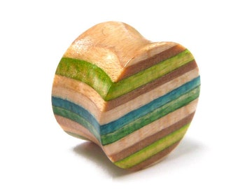 Recycled Skateboards, Single Plug, Plugs and Tunnels, Ear Gauge, Wooden Plug, Wood Tunnel, Wooden Plugs, Wood Tunnels, Gauges, Ear Plugs