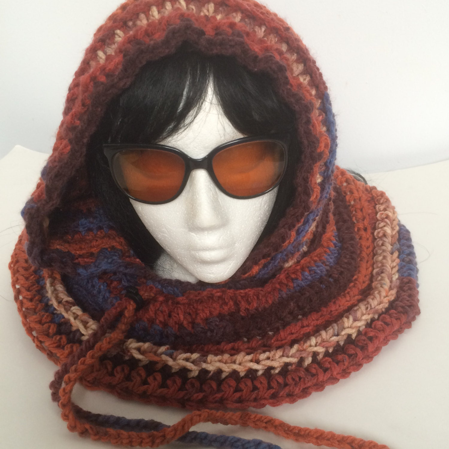 PATTERN: Crochet Hooded Cowl Scoodie Pattern PDF, Chunky Hooded Cowl ...