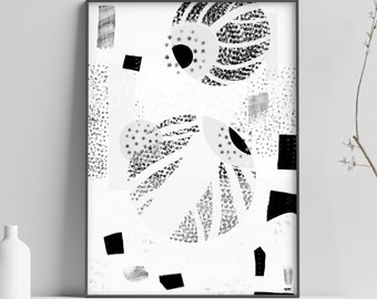 Breaking Bed eye, Abstracteye, (Giclee Print from my Original Monochrome Abstract Illustration) eye print, eye poster