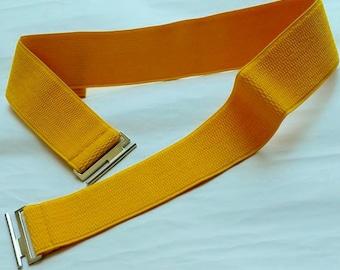 Elastic Belt, Yellow Waist Belt, Stretch Belt, Yellow Belt, Cinch Elastic Belt for any Dress, Shirt, Skirt, Gift for Mother's Day, Easter
