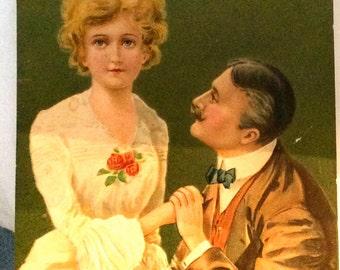 Proposal Postcard, Vintage Postcard, Sweetheart Postcard, Wedding Announcement, Valentine Postcard, Wedding Postcards