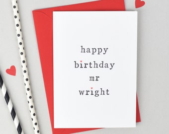 Happy Birthday Mr or Mrs Card - Personalised Birthday Card - Personalised Card for Wife - Personalised Card for Husband