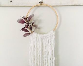 Yarn Hanging, Wall Hanging, Embroidery Hoop Decor, Boho Decor, Nursery Decor, Baby Shower, Bridal Shower, Gift, Floral Decor
