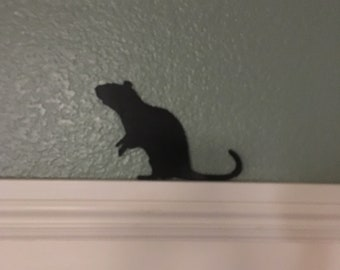 Black Silhouette of a Rat