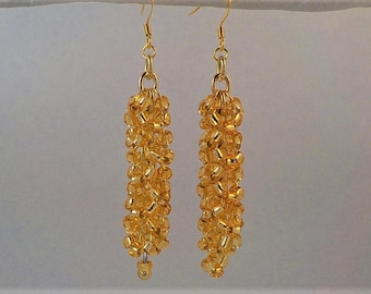 Gold chainmaille cluster