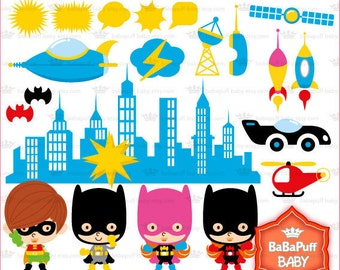 Batman Fans Clip Art---- Personal and Small Commercial Use ---- BB 0134