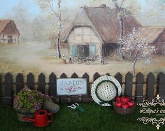 Dollhouse miniature COTTAGE's sign