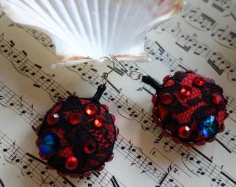 Earrings, glitter jewelry for theme party, Boho, Hippi, summer jewelry, party, carnival earrings