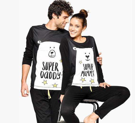 Couple Pajamas Day Pajamas Matching Pajamas Matching Clothing Family Matching Father Mother Fathers Couple Matching Family Set Bear qPBAnxXTw
