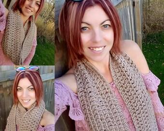 Crochet Chunky Infinity Scarf - Crochet Wrap - Crochet Circle Scarf - Crochet Cowl -Neck Warmer