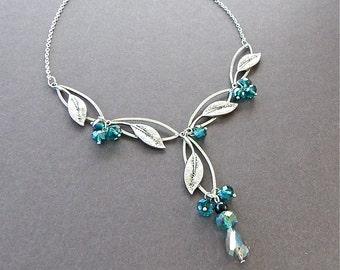 Sacred Garden Necklace Green Swarovski Crystal By Rayvenwoodmanor Jewelry