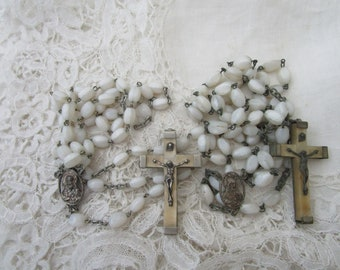Vintage glass rosary x 2 for re-purpose
