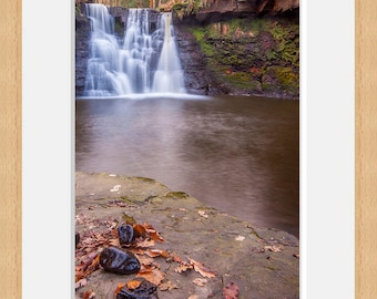 Framed Photographic Fine Art Print, Waterfall.
