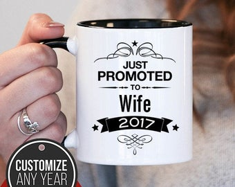 Just Promoted To Wife Wife Gift, Wife Birthday, Wife Mug, Wife Gift Idea, Baby Shower, Mothers Day, mug gift