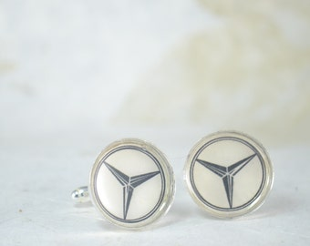 LEXUS  Or MERCEDES BENZ Cufflinks  CuffLinks- Tuxedo Shirt Cufflinks - Gift For Men