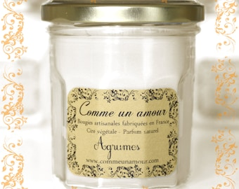 Scented Candle with Citrus - As a Love - Handcrafted Made in France
