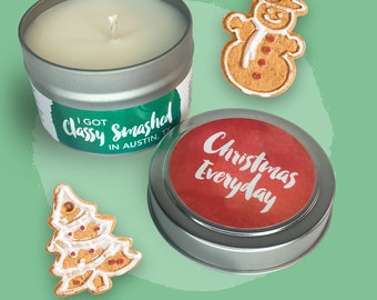 Gingerbread Soy Candle 4 oz Tin - Christmas Everyday