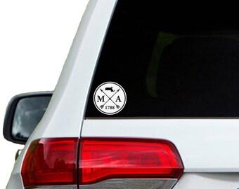 Massachusetts Arrow Year Car Window Decal Sticker