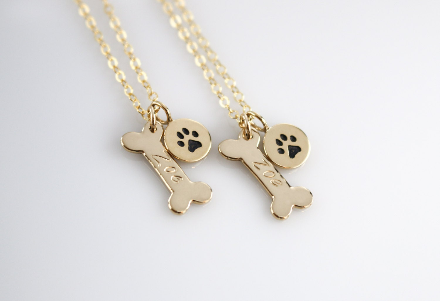 aece necklace yfn sterling women jewelry new fashion gold exclusive bone silver dog products pendant genuine heart paw