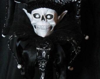Jester Original Polymer Clay Mixed Media Sculpture, FAERIE SCEPTER