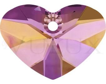 Wholesale Swarovski Crazy 4 U Heart 6260 - 37 MM Astral Pink (API)
