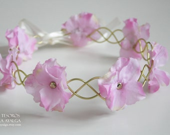 floral crown - floral headpiece - wedding circlet- statement jewelry