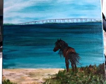 Chincoteague Pony Painting