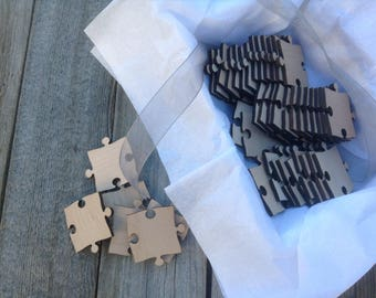 25 Blank Puzzle Pieces for Wedding Guest Book Puzzle / Anniversary / Special Occasion