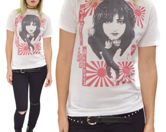 Vintage 80s Siouxsie and the Banshees Hong Kong Garden Goth T Shirt Sz M