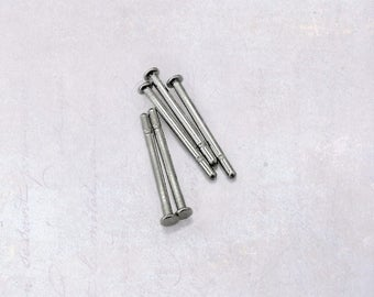 250 x Stainless Steel Earring Stud Posts 316 Surgical Grade 11mm x 0.8mm - Backings Optional