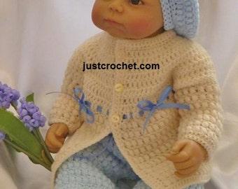 Coat, Pants and Beret Baby Crochet Pattern (DOWNLOAD) 76
