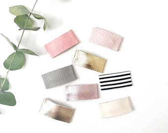 Faux leather snap clips // baby girl and toddler snap clips, hair clip, har accessories