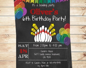 Kids bowling invites etsy printable bowling birthday party invitation boy bowling party invitation boys bowling party invitations kids filmwisefo Image collections