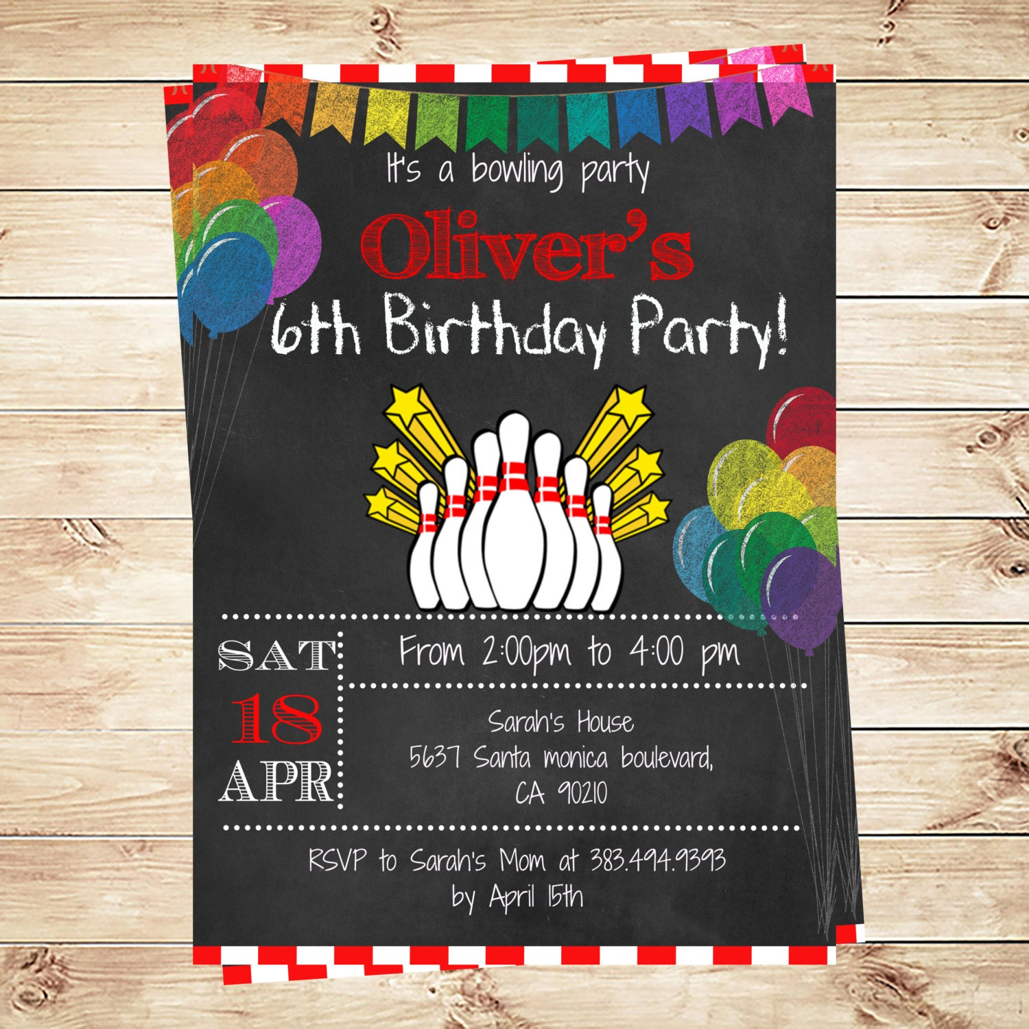 birthday party announcements