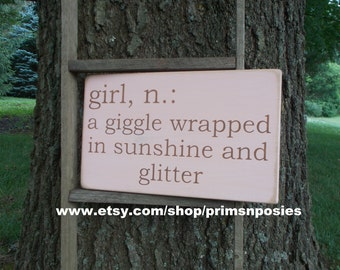 Girl Definition Wood Sign Baby Nursery Baby Shower