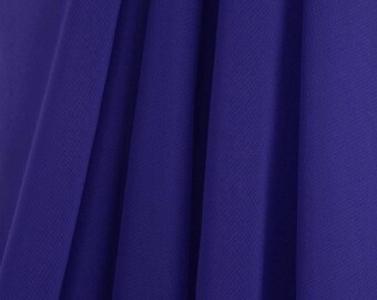 "60"" Wide - High Quality 100% Polyester Chiffon Sheer Fabric - ROYAL BLUE"