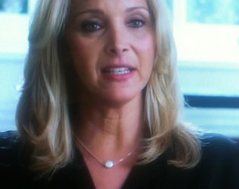 Worn by Lisa Kudrow on ABC's Scandal - Freshwater Pearl Necklace Sterling Silver - Celerbrity Inspired - Elegant Necklace