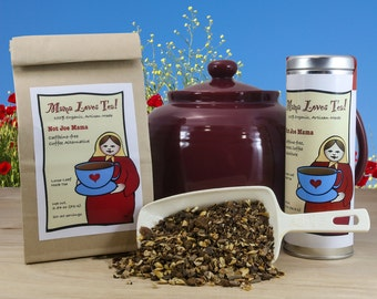 Not Joe Mama Herbal Coffee Substitute Tea in a Bag or a Tin, 100% Organic, Caffeine-free, Loose-Leaf Blend