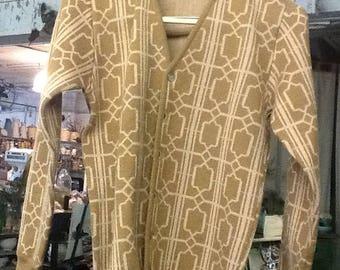 Vintage 1960's Kinson Wool Cardigan Sweater