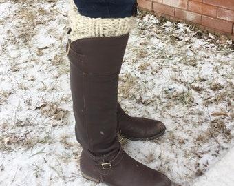 Knit Boot Cuffs, Boot Toppers, Womens Biot Cuffs