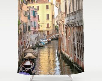 Venice Italy Shower Curtain, Fabric Shower Curtain, Standard or Extra Long Shower Curtain, Bath Curtain, Italy Decor, Housewarming Gifts