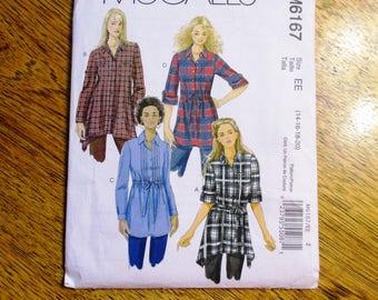BOHO Tunic Top w/ Drawstring / Oversized A-Line Boyfriend Shirt - Plus Size (14 - 16 - 18 - 20) - UNCUT ff Sewing Pattern McCalls 6167