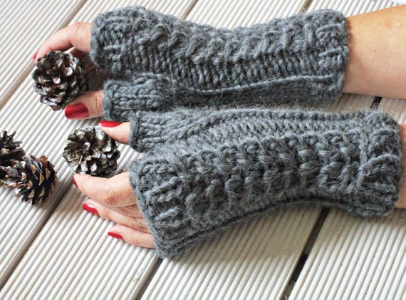 Knit Mittens Knit Gloves Without Fingers Fingerless Mittens