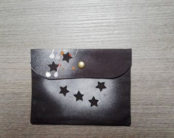Hand-painted cotton clutches bags