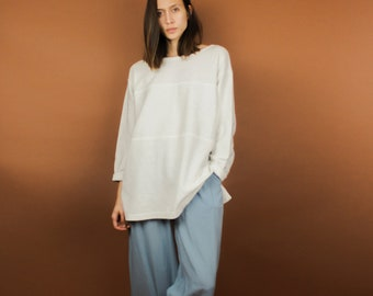 Oversized Modern Sectioned Long Sleeve