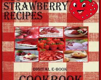 423 Strawberry Recipes E-Book Cookbook Digital Download