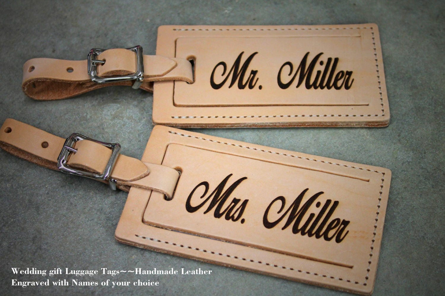 Personalized Luggage Tags Wedding Gift: Wedding Gift Custom Luggage Tag Travel Gift Vacation Gift