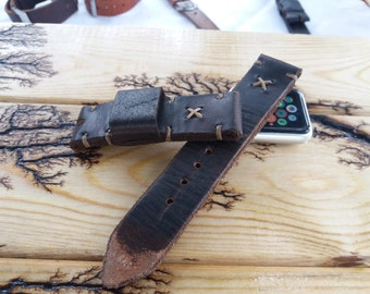 Apple Watch Distressed Leather Strap Men Leather watchband watches bracelet for Apple Watch 42mm 38mm series iwatch accessory Women 22mm